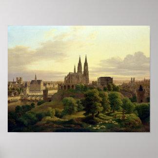 Una ciudad medieval en 1830, 1830 póster