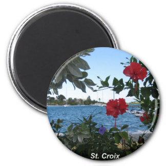 Una clase del St. Croix de día Imán Redondo 5 Cm