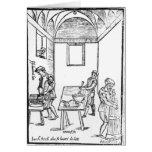Una cocina medieval tarjeta de felicitación