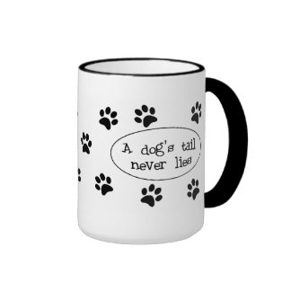 Una cola de perro taza