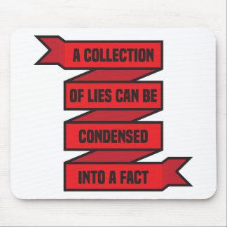 Una colección de mentiras tapetes de raton