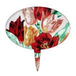 Una colección del tulipán decoración de tarta