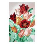 Una colección del tulipán papelería de diseño