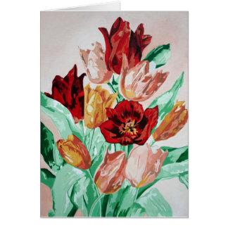 Una colección del tulipán tarjeta de felicitación