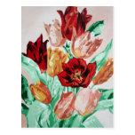 Una colección del tulipán tarjeta postal