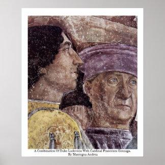 Una combinación de duque Ludovicio With Cardinal Póster