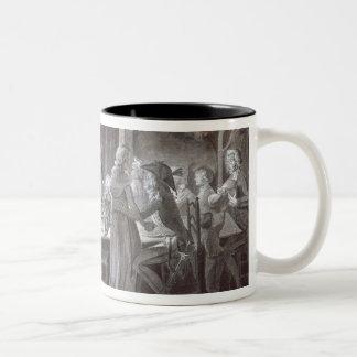 Una comida del boda de la tarde taza de café