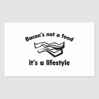 Una comida del tocino no es una forma de vida pegatina rectangular