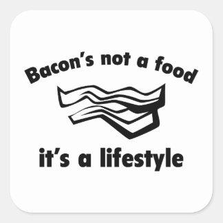 Una comida del tocino no es una forma de vida pegatina cuadrada