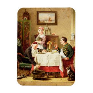 Una comida satisfactoria, 1883 (aceite en lona) imanes