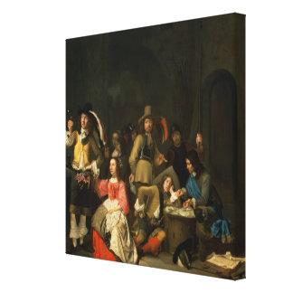 Una compañía de soldados lona envuelta para galerias