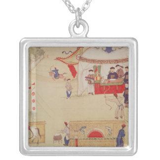 Una competencia del tiro al arco, fin del siglo XV Collar Plateado