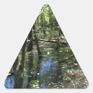Una conexión ducky pegatina triangular