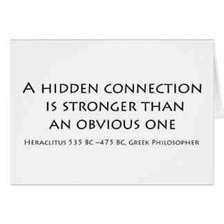 Una conexión ocultada tarjeta de felicitación