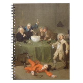 Una conversación moderna de medianoche, c.1732 (el libreta espiral
