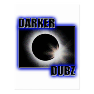 Una copia azul MÁS OSCURA de DUBZ Dubstep Tarjeta Postal