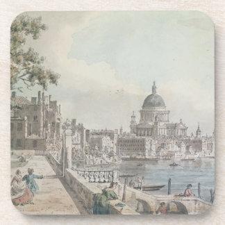 Una copia de la parte de un dibujo por Canaletto,  Posavaso