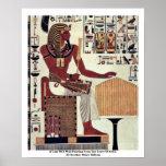Una copia de una pintura de pared del sepulcro de  impresiones