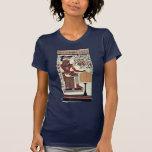 Una copia de una pintura de pared del sepulcro de camisetas