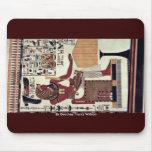 Una copia de una pintura de pared del sepulcro de  tapetes de raton
