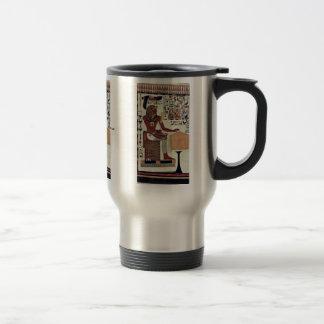 Una copia de una pintura de pared del sepulcro de taza de café