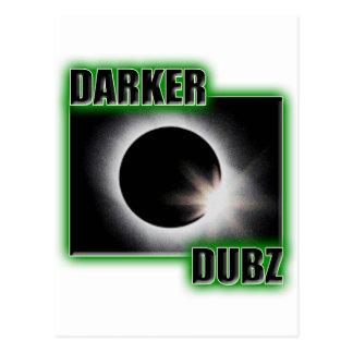 Una copia verde MÁS OSCURA de DUBZ Dubstep Postales
