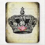 una corona del vintage alfombrillas de raton