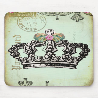 una corona real cabida para una reina alfombrilla de ratones