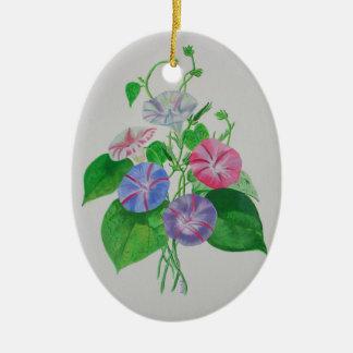 Una correhuela adorno navideño ovalado de cerámica