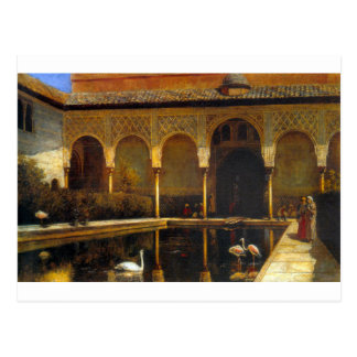 Una corte en Alhambra de señor Weeks de Edwin Postales