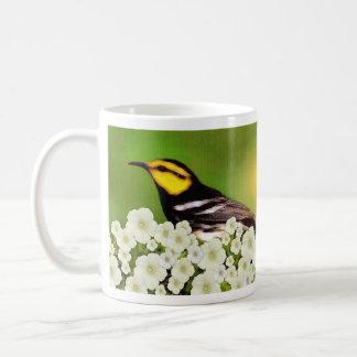 Una cosa pedí el 27:4 del salmo - pájaro de la taza básica blanca