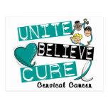 UNA CREEN al cáncer de cuello del útero de la CURA Tarjetas Postales