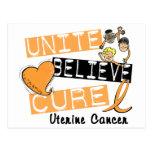 UNA CREEN al cáncer uterino de la CURACIÓN Postal