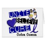 UNA CREEN el cáncer de colon de la CURACIÓN Tarjetón