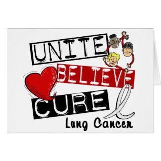 UNA CREEN el cáncer de pulmón de la CURACIÓN Tarjeta