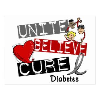 UNA CREEN la diabetes de la CURACIÓN Tarjetas Postales