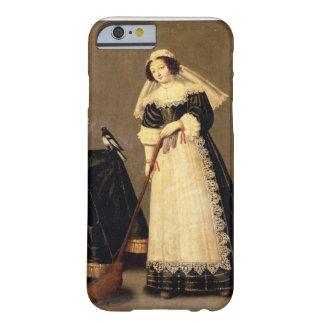Una criada con una escoba funda de iPhone 6 barely there