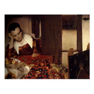 Una criada dormida tarjetas postales