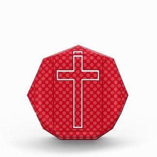 Una cruz cristiana roja
