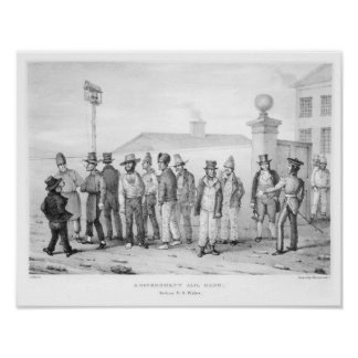 Una cuadrilla de la cárcel del gobierno póster