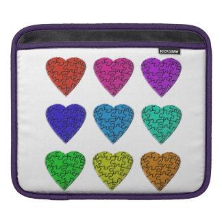 Una cubierta del iPhone del rompecabezas del amor Fundas Para iPads