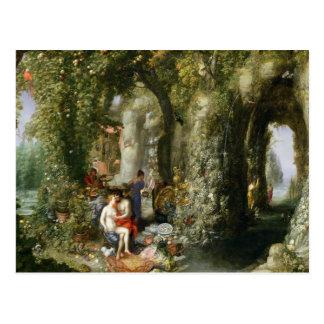 Una cueva fantástica con Odiseo y el Calypso Postales