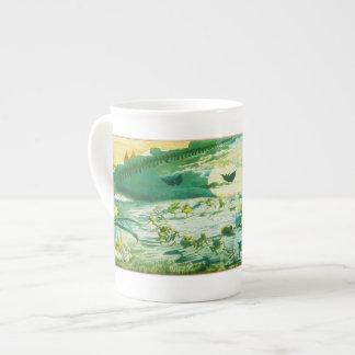 Una danza de hadas - taza de la porcelana de hueso taza de porcelana