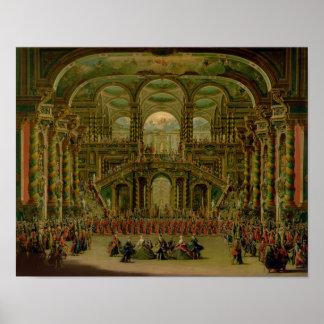 Una danza en un palacio rococó barroco posters