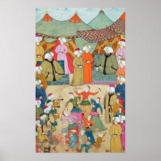 Una danza para el placer del sultán Ahmet III Póster