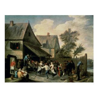 Una danza popular tarjeta postal