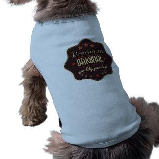 Una de camisetas sin mangas acanaladas del perrito playera sin mangas para perro
