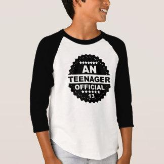 Una décimotercero camiseta del CUMPLEAÑOS del Remera