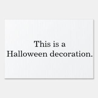 Una decoración de Halloween Señal