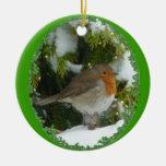 Una decoración del navidad del round robin adorno para reyes